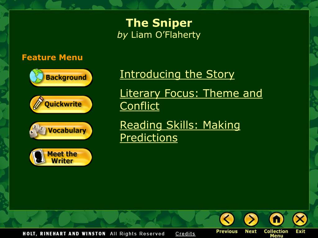 what is the theme of the story the sniper