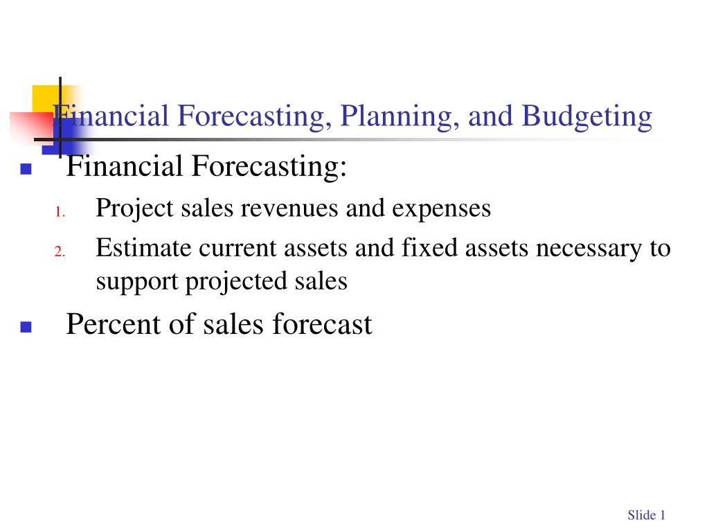 ppt financial forecasting planning and budgeting powerpoint