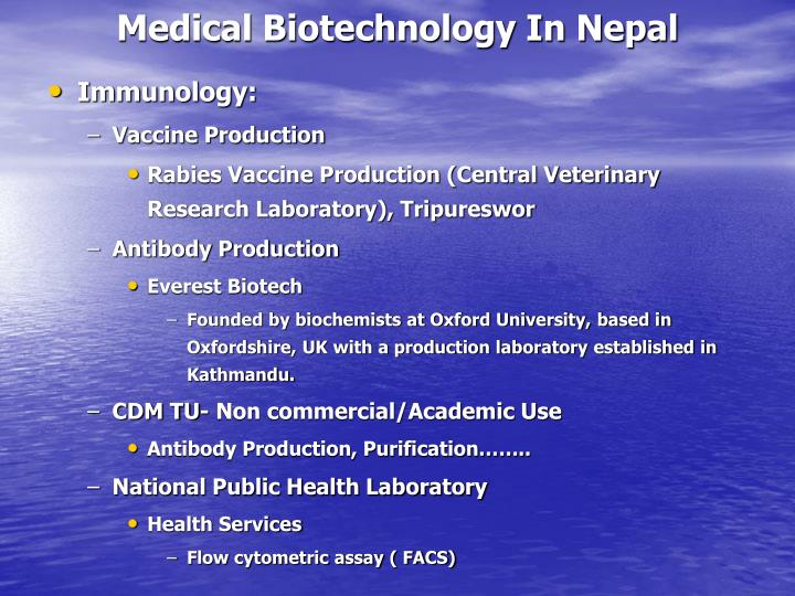 Medical Biotechnology In Nepal