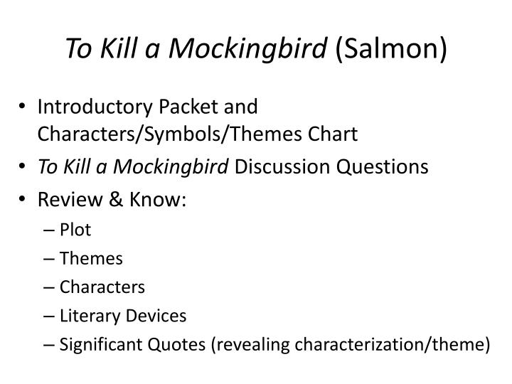 to kill a mockingbird essay on characters The following to kill a mockingbird  impacting the characters,  ife essay in a letter format while using tkam as a.