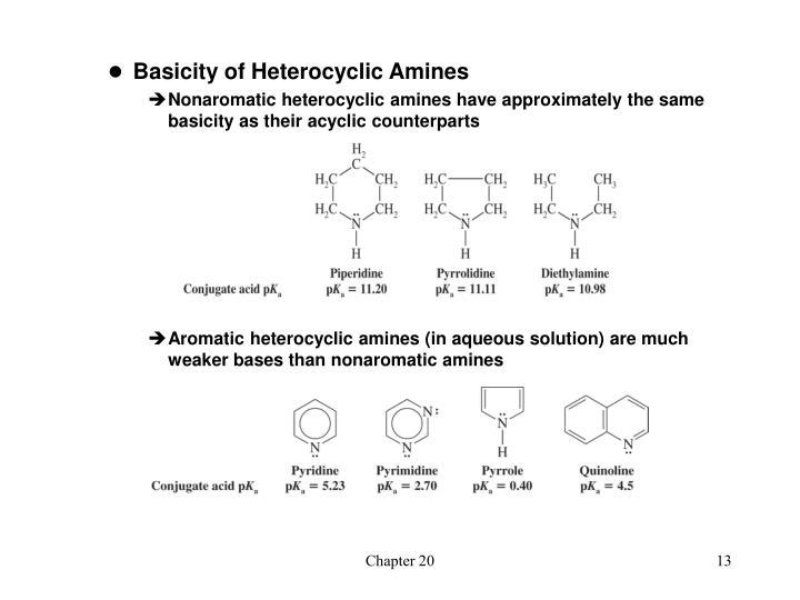 Basicity of Heterocyclic Amines