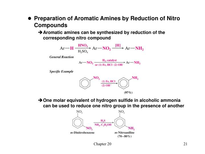 Preparation of Aromatic Amines by Reduction of Nitro Compounds