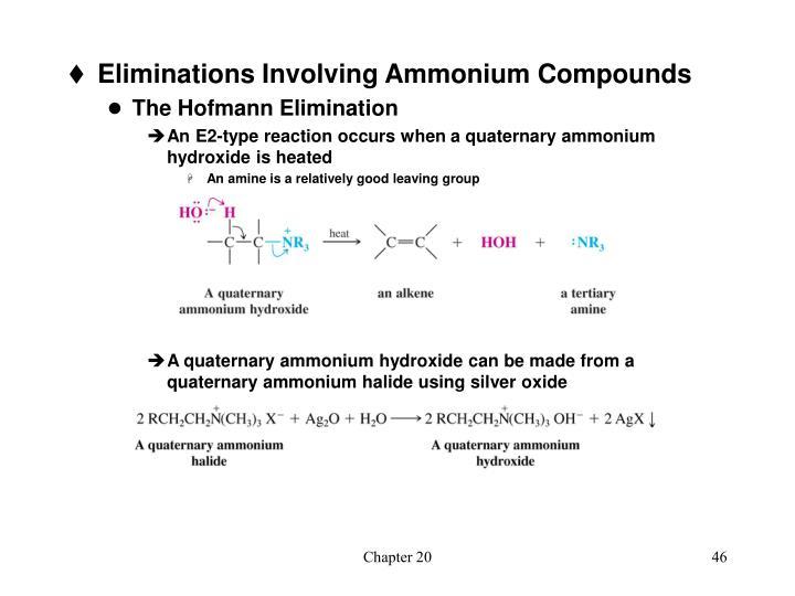 Eliminations Involving Ammonium Compounds