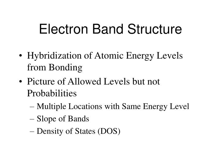Electron Band Structure