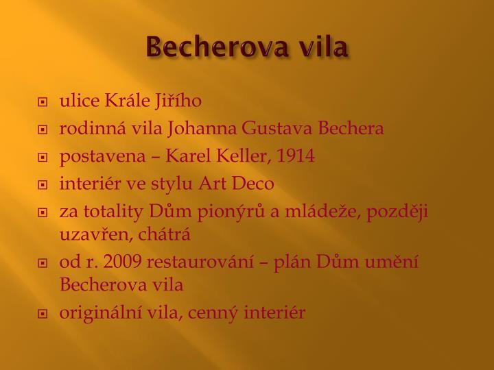 Becherova
