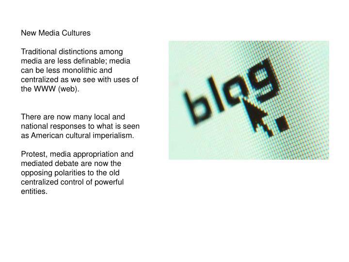 New Media Cultures