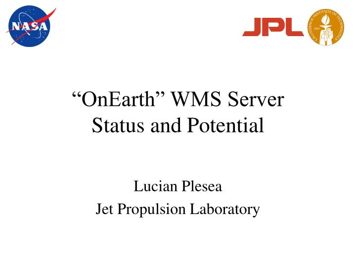 onearth wms server status and potential n.