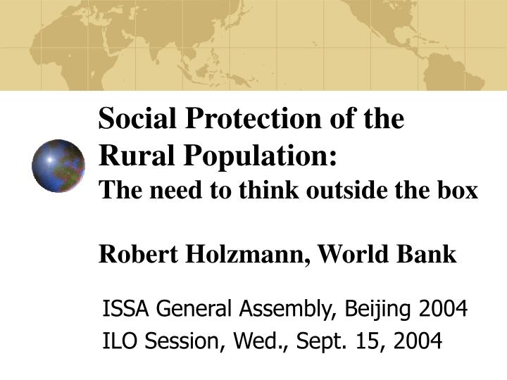 Social Protection of the Rural Population: