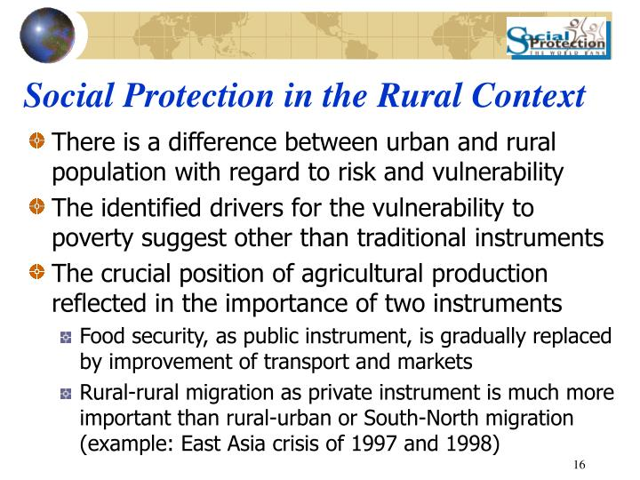 Social Protection in the Rural Context