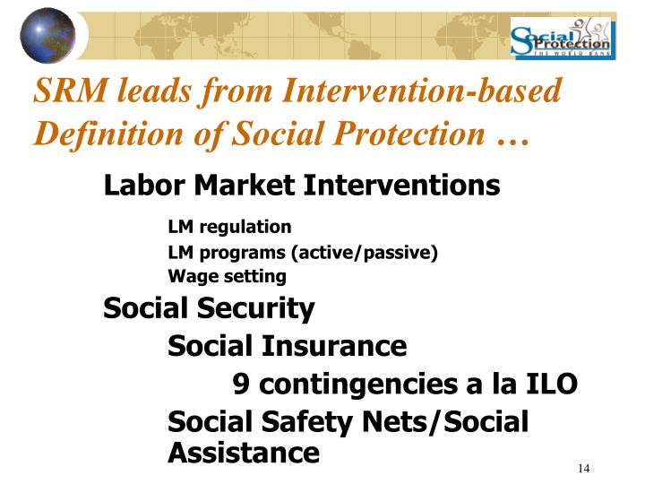 SRM leads from Intervention-based Definition of Social Protection …