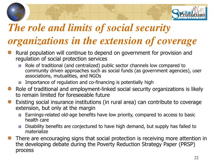 The role and limits of social security organizations in the extension of coverage