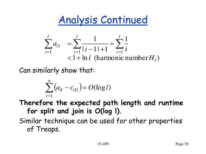 Analysis Continued