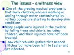 the issues a witness view