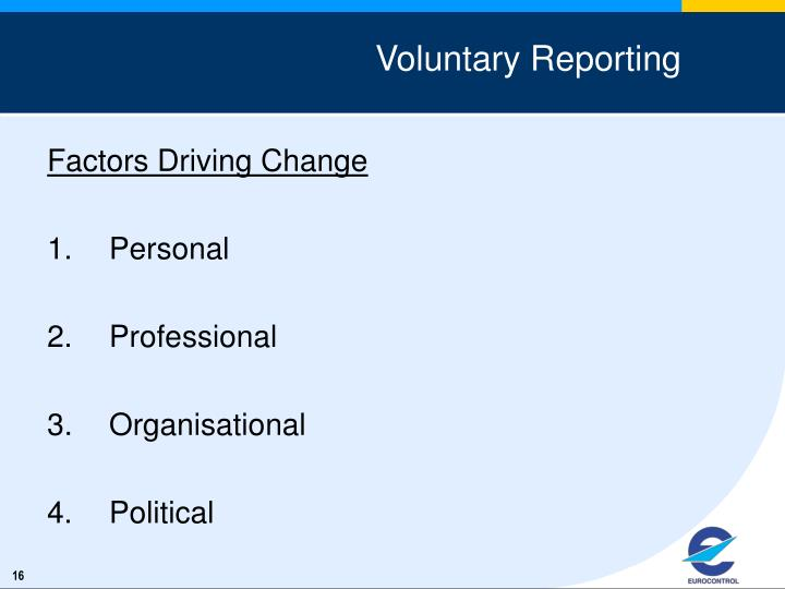 Voluntary Reporting