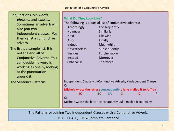 ppt conjunctive adverbs powerpoint presentation id 4193115