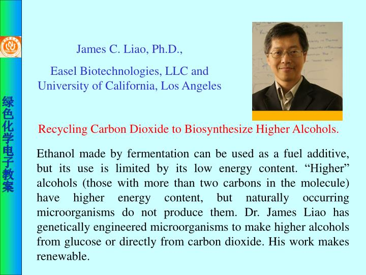 James C. Liao, Ph.D.,