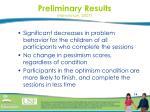 preliminary results hieneman 2007