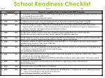 school readiness checklist1