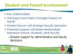 student and parent involvement