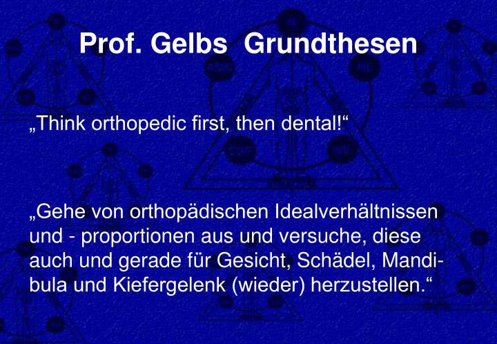 Prof. Gelbs  Grundthesen