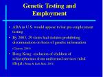 genetic testing and employment