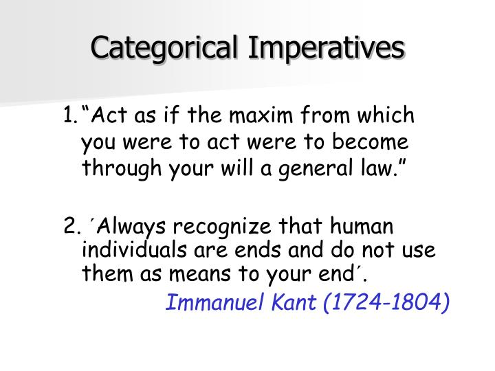 Categorical Imperatives