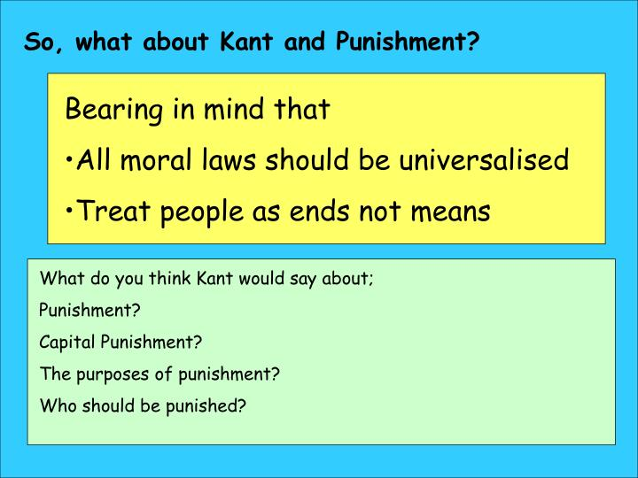 So, what about Kant and Punishment?