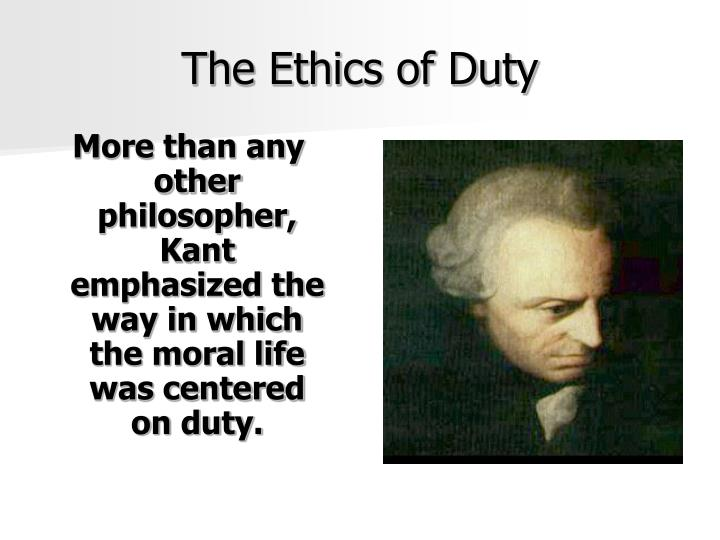 The ethics of duty
