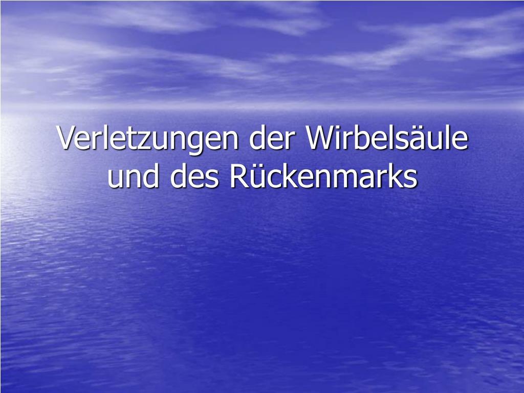 PPT - Verletzungen der Wirbelsäule und des Rückenmarks PowerPoint ...
