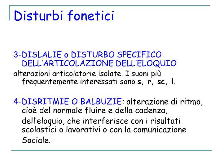 Disturbi fonetici