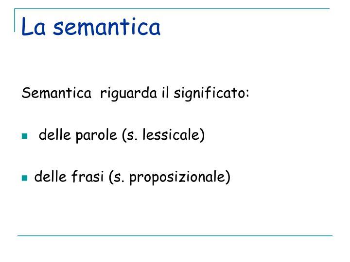 La semantica