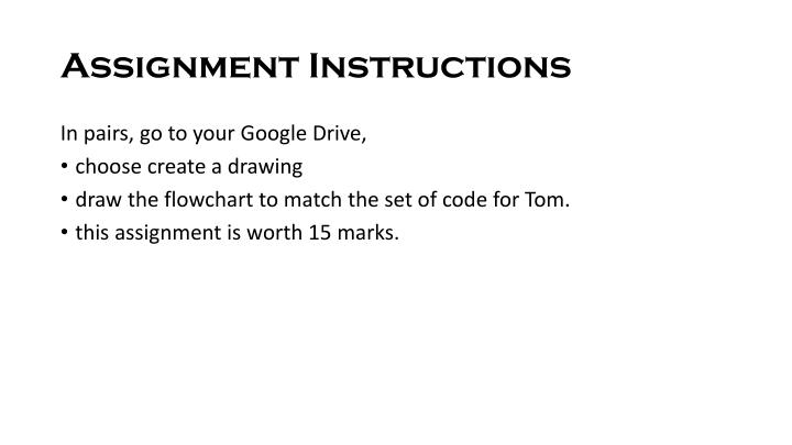 Assignment Instructions