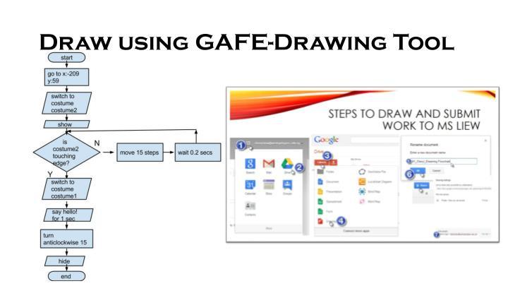 Draw using gafe drawing tool