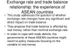 exchange rate and trade balance relationship the experience of asean countries1
