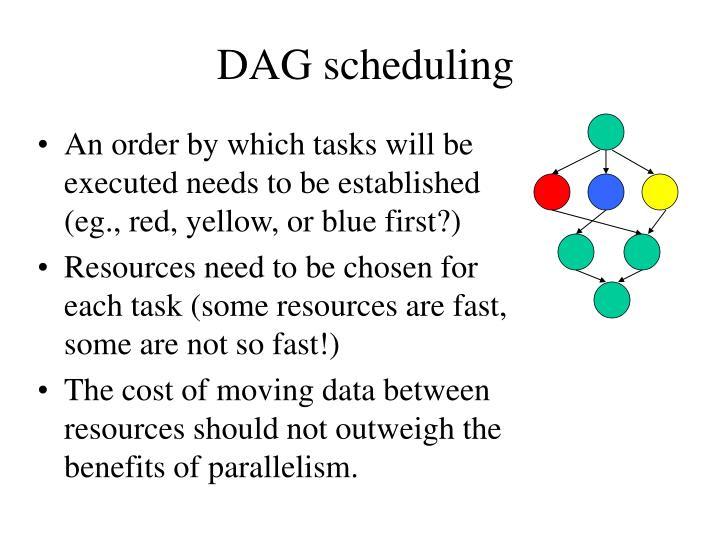 DAG scheduling