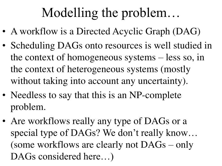 Modelling the problem