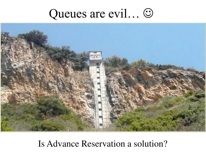 Queues are evil…