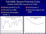 fall 2008 severe financial crisis