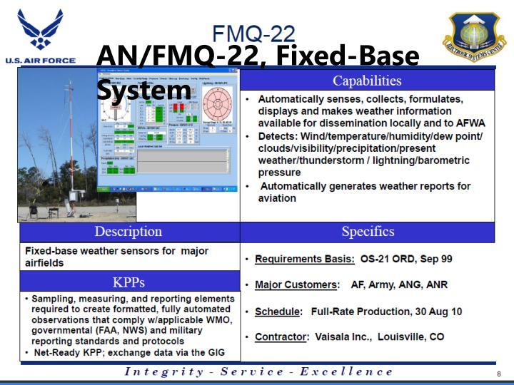 AN/FMQ-22, Fixed-Base System