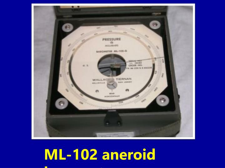 ML-102 aneroid barometer