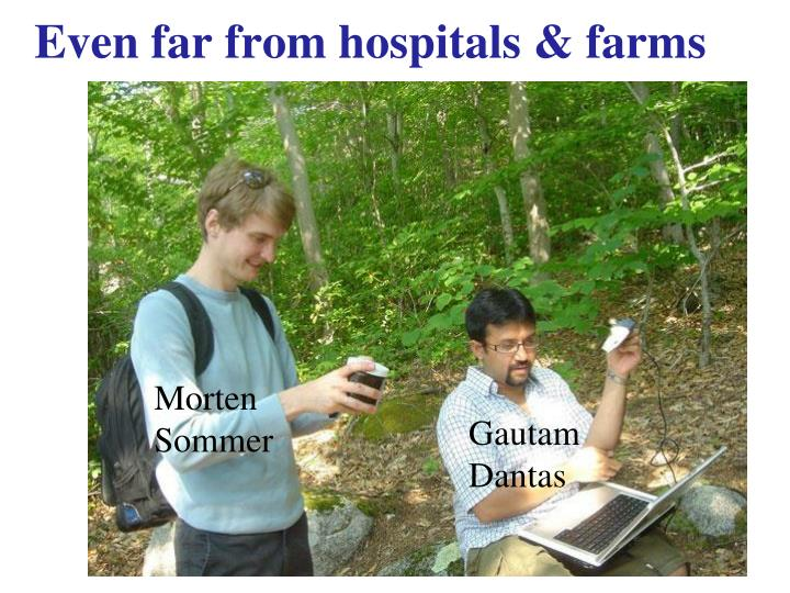 Even far from hospitals & farms