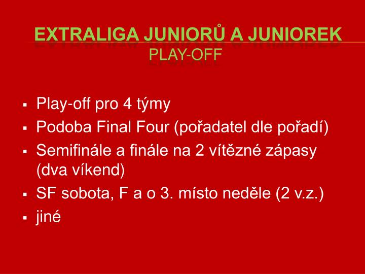 Play-off pro 4 týmy