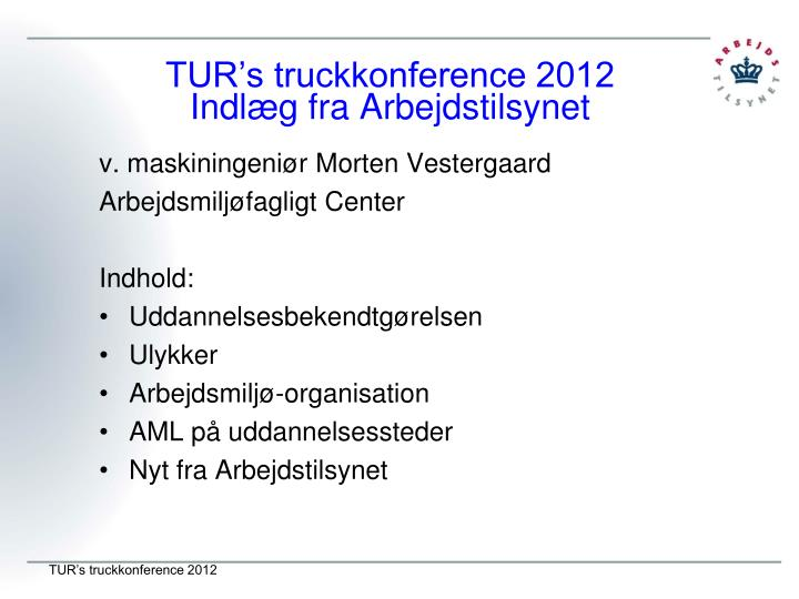 TUR's truckkonference 2012