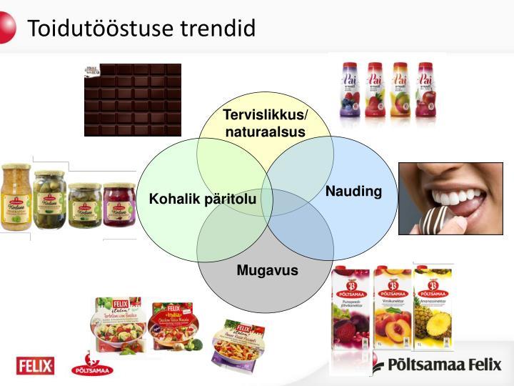Toidutööstuse trendid