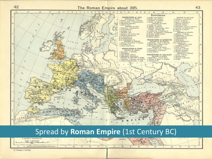 Ppt understanding western culture powerpoint presentation id4194326 spread by roman empire 1st century bc publicscrutiny Images
