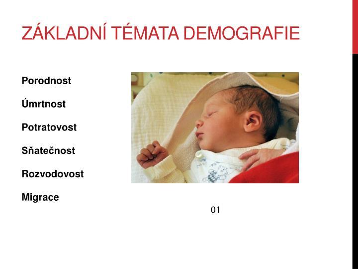 Základní témata demografie