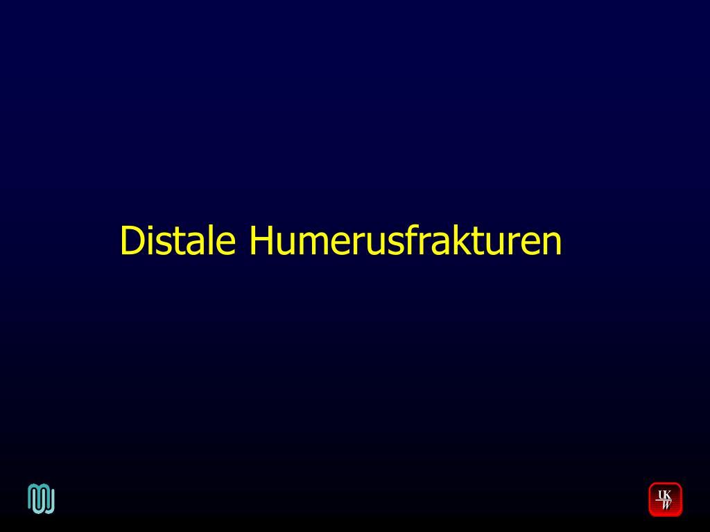 PPT - Distale Humerusfrakturen PowerPoint Presentation - ID:4194650