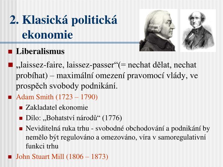 2. Klasická politická
