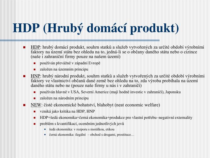 HDP (Hrubý domácí produkt)