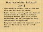 how to play math basketball cont